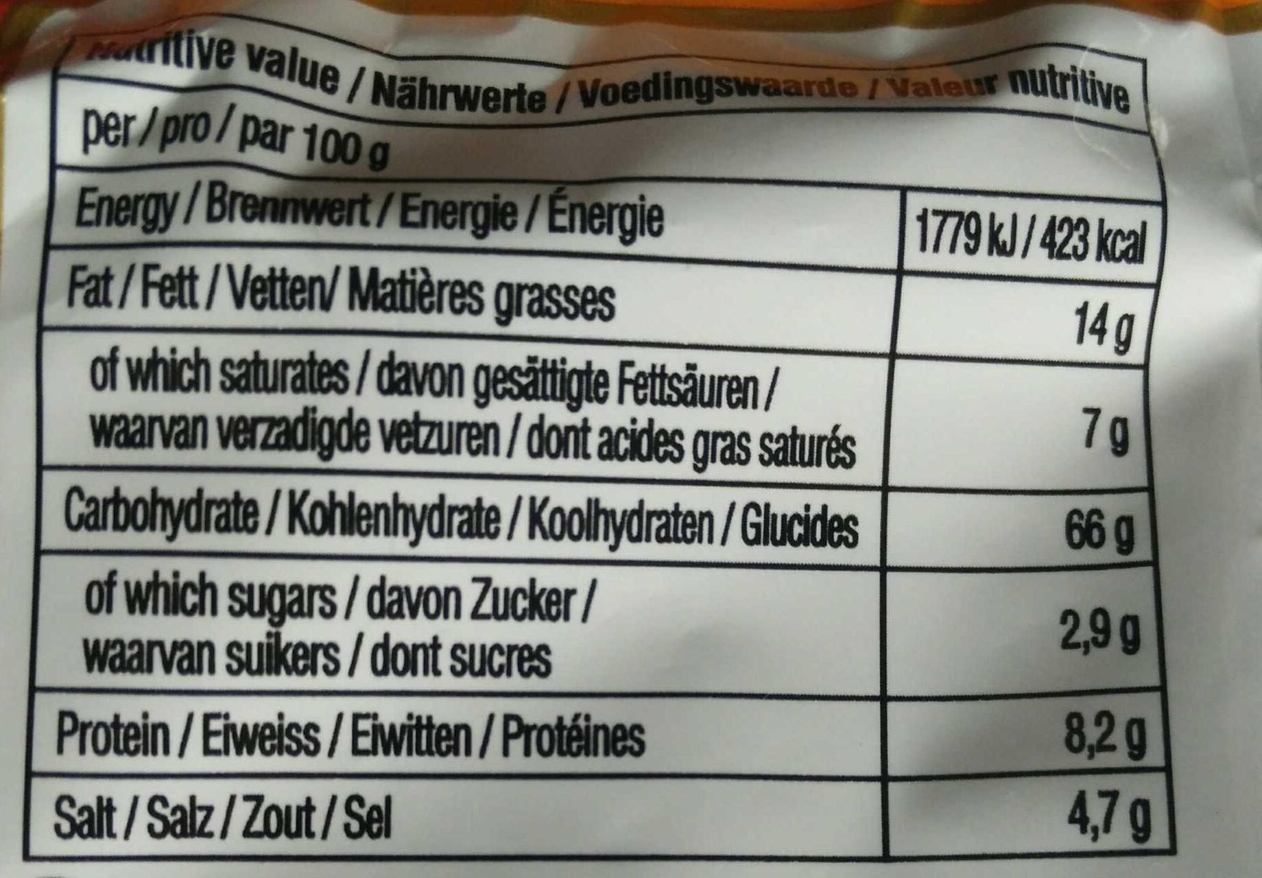 Ansungtangmyun Nongshim Nouille - Informations nutritionnelles