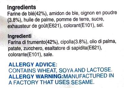 Beignets saveur oignon - Ingrédients