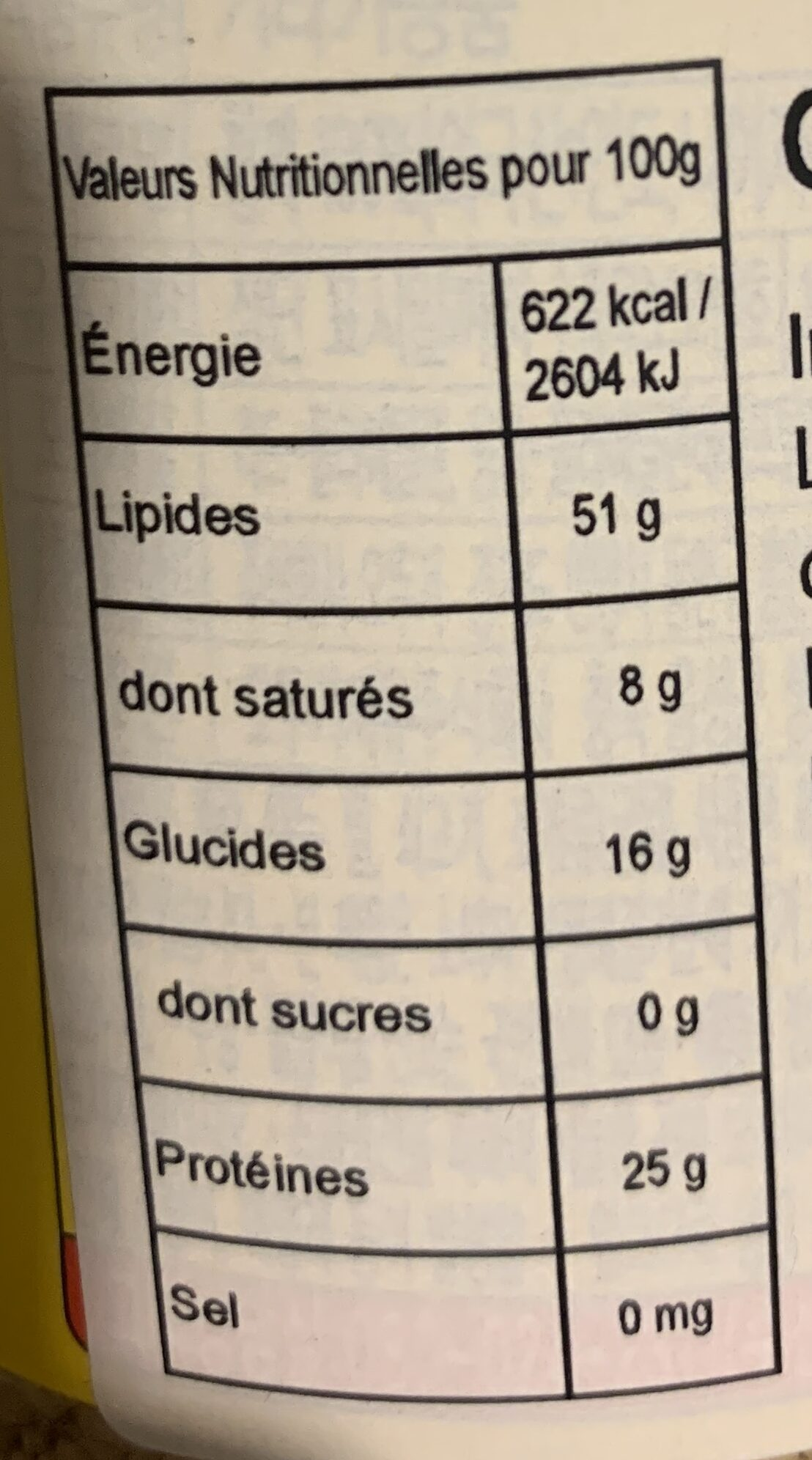Graines de sésame rôties - Valori nutrizionali - fr
