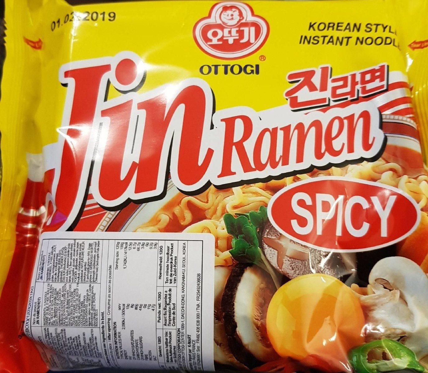 Ottogi Jin Ramen (spicy) - Product - en