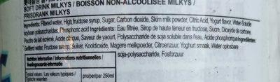 Lotte, Milkis, Refreshing Milk And Yogurt Flavor Soda Beverage, Milk And Yogurt - Ingredients
