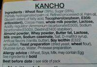 Choco biscuit - Ingredients