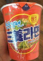 Samyang Ramen Cup Saveur Boeuf & Jambon - Nutrition facts - fr