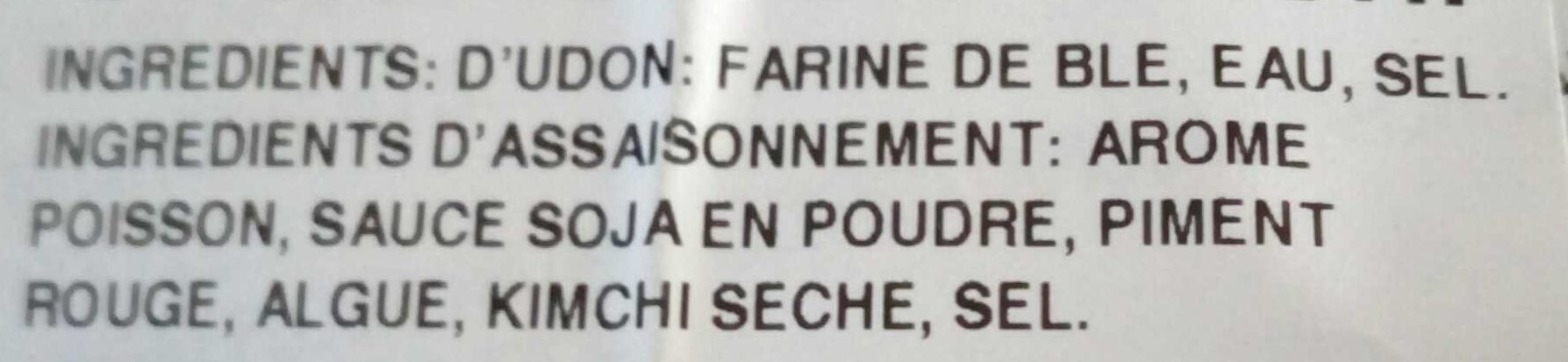 Udon frais au kimichi - Ingredienti - fr