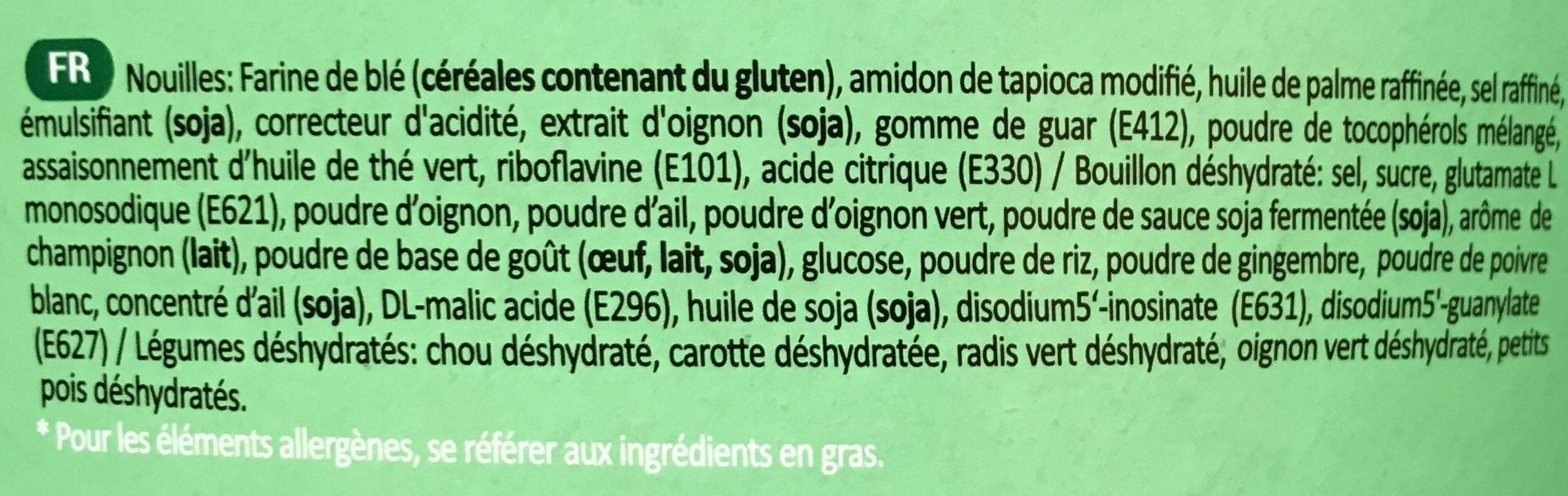 Nouilles légumes - Ingredienti - fr