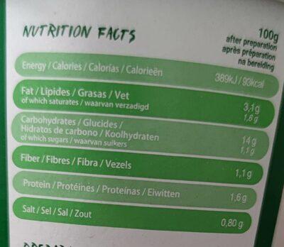 Nouilles légumes - Valori nutrizionali - fr