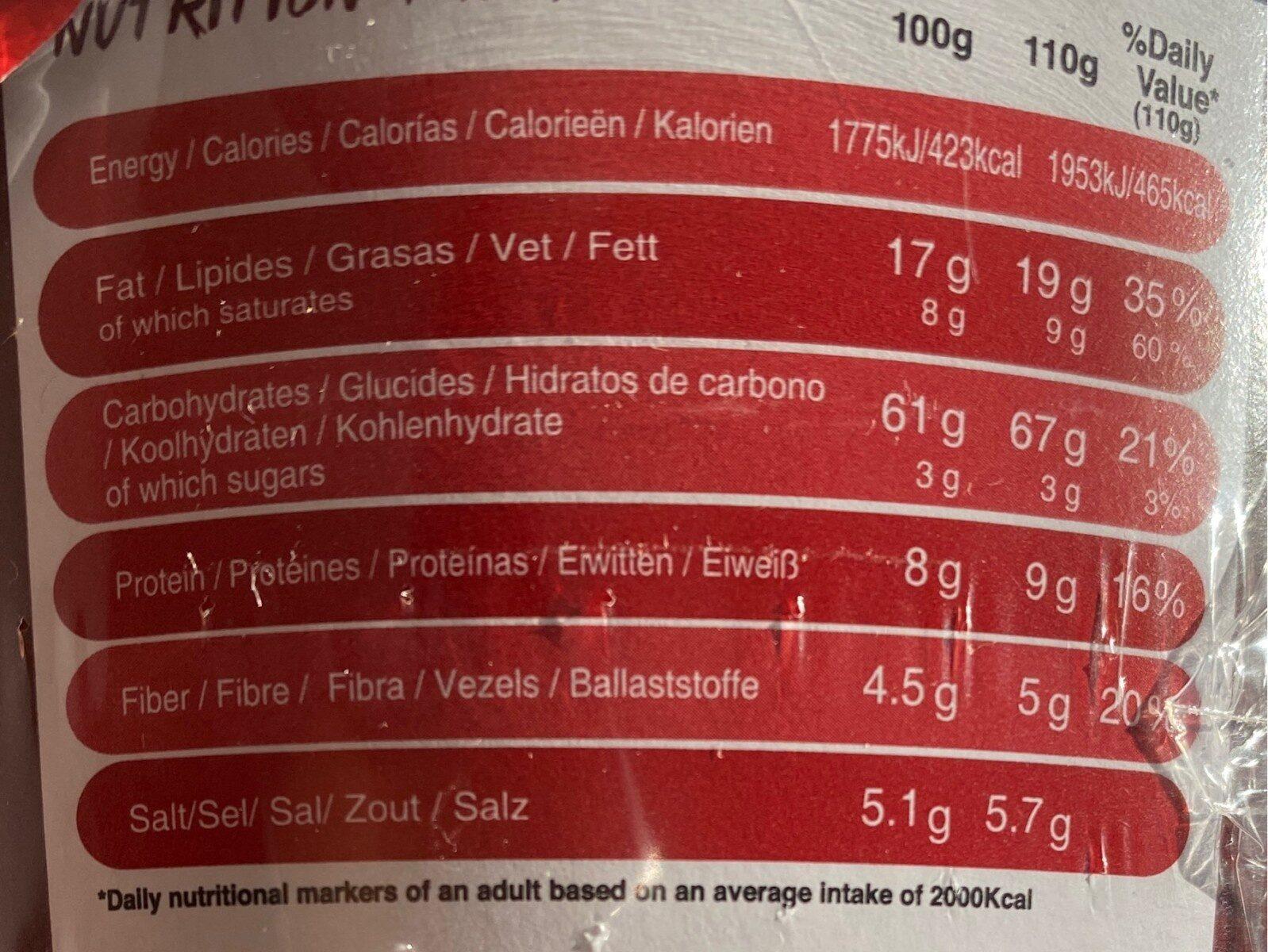 XL original korean ramen cup gout Piquant - Informations nutritionnelles - fr