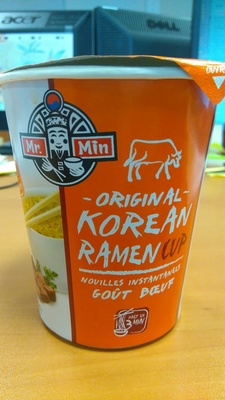 Mr. Min original korean ramen cup goût boeuf - Produit