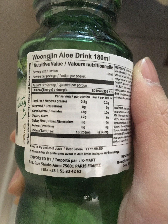 Boisson Aloe - Informations nutritionnelles - fr