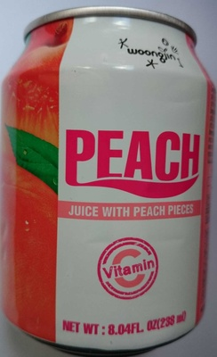 Woongjin, peach juice with peach pieces, peach - Product - en