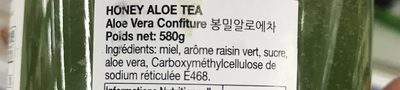 Honey And Aloe 580G For Tea And Jam - Ingredients - fr