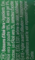 Aloe Vera King Aloe Vera Drink Natural Original - Ingredientes - fr