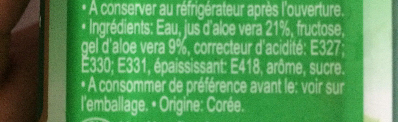 Aloe vera drink - Ingredientes