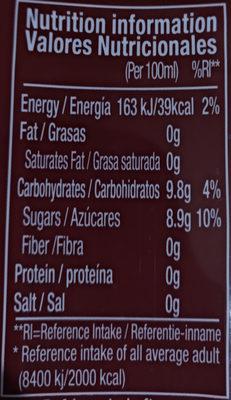 Alod vera king - Información nutricional