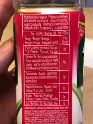 Aloe vera king - Informations nutritionnelles - fr