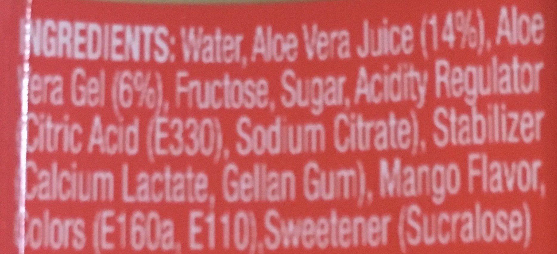 Farmer's - Aloe vera mango drink - Ingredientes - en
