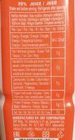 Farmer's - Aloe vera mango drink - Información nutricional - en