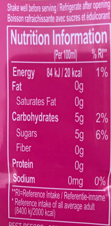 Farmer's aloe verra - Nutrition facts - fr