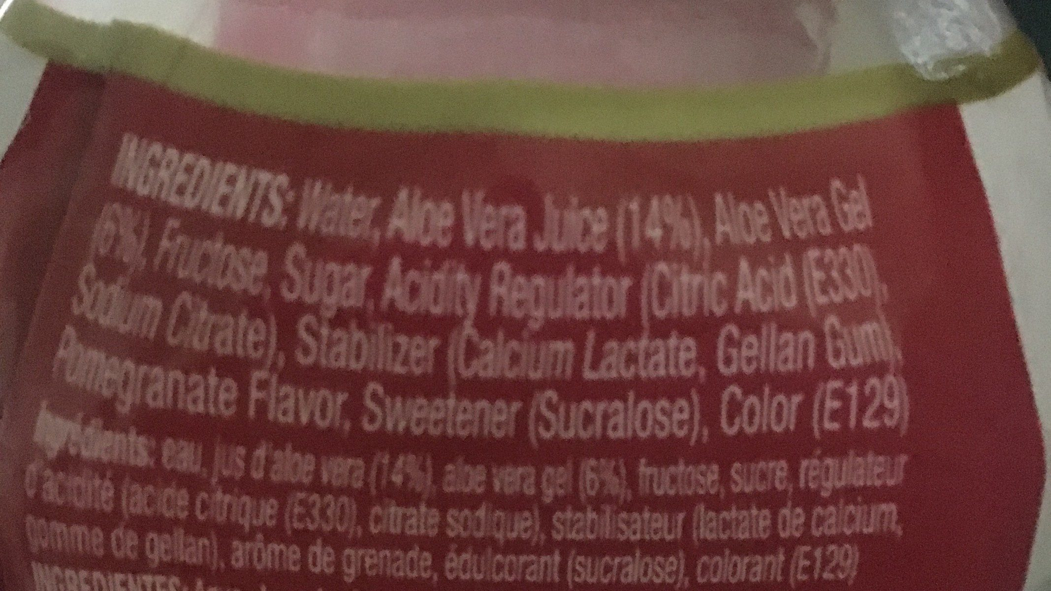 Farmer's Aloe Vera - Ingredients - fr