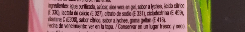 Jus Aloe Vera Lychee - Ingredients - es