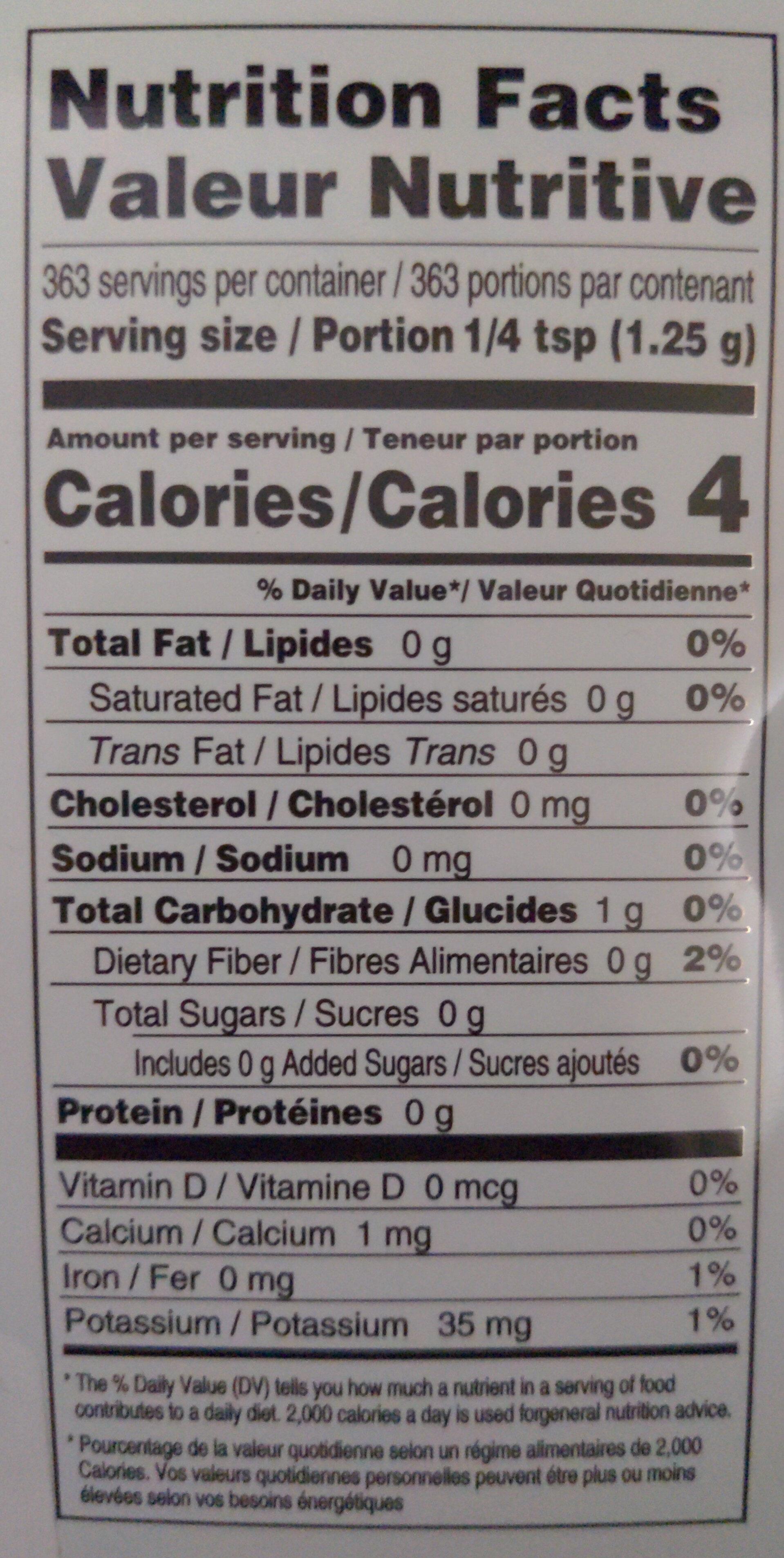 Taekyung Red Pepper Powder - Nutrition facts - en