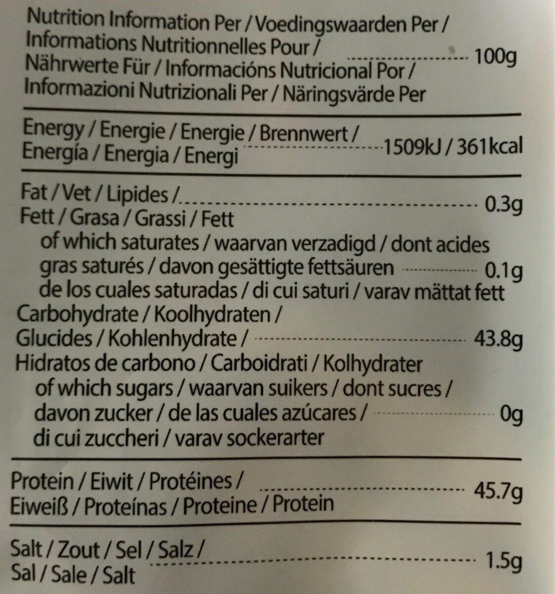 Sushi Nori - Información nutricional - es