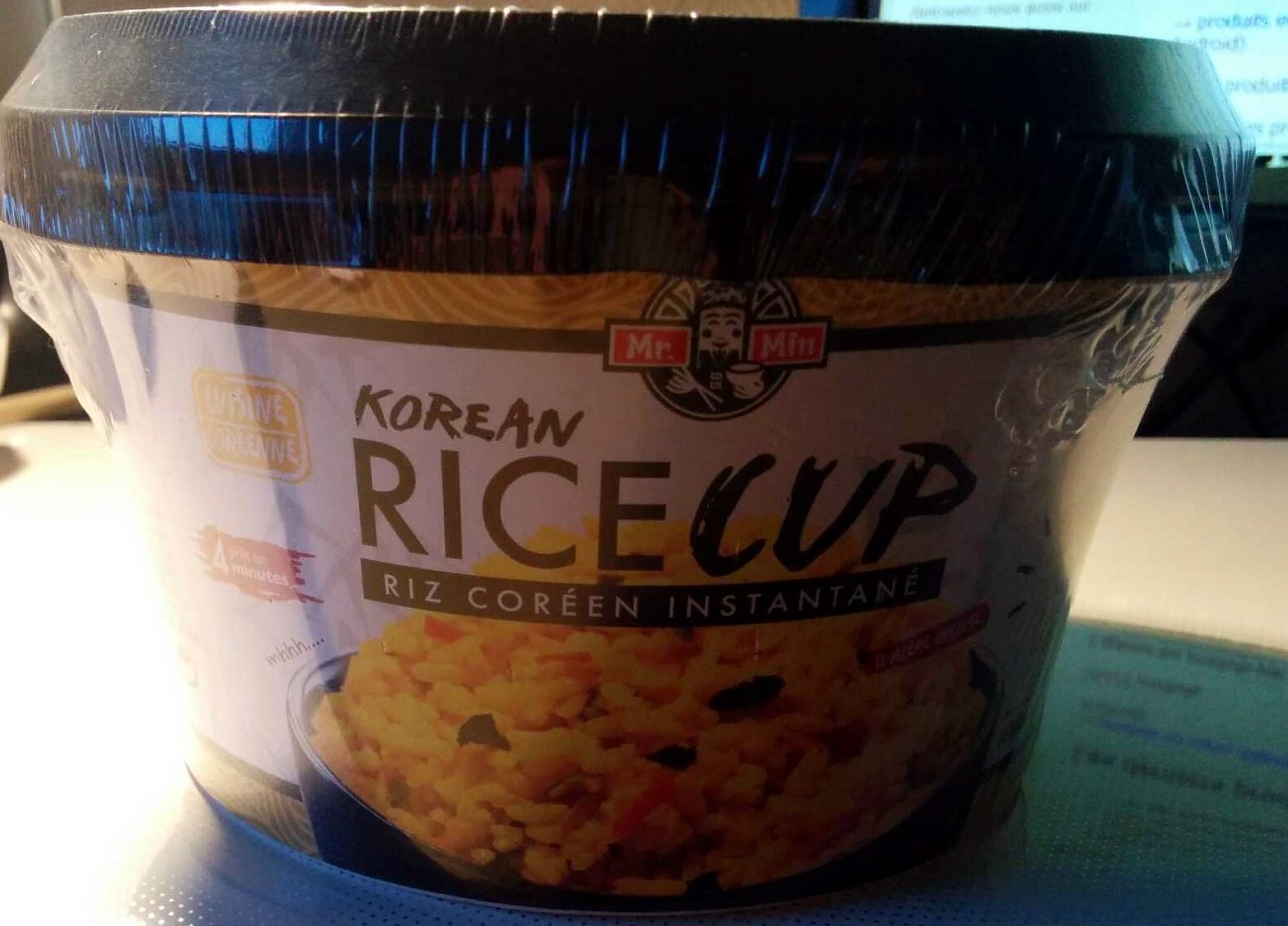 Korean Rice Cup Goût Poulet Curry - Produit - fr