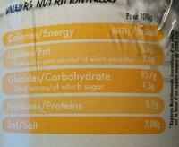 Korean Rice Cup Goût Poulet Curry - Informations nutritionnelles - fr