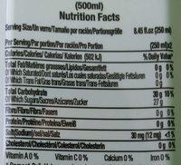 Aloé water - Informations nutritionnelles
