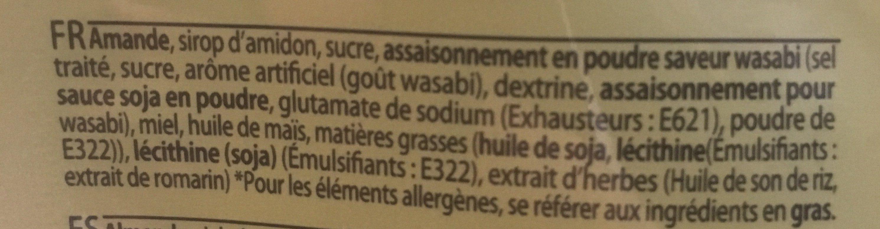 Amandes au wasabi - Ingredientes