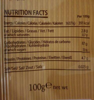 Grains crackers - Informations nutritionnelles - fr