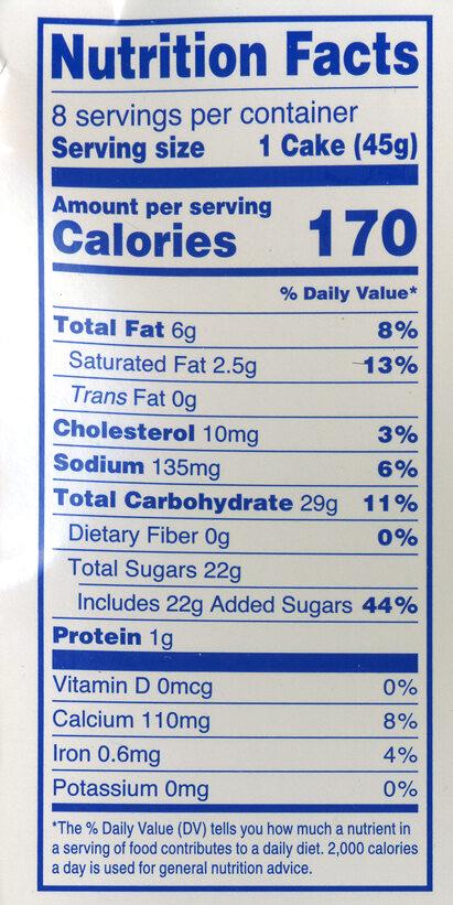 Hostess S'Mores Cupcakes - Nutrition facts - en