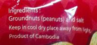 Mekong Peanut - Ingredients