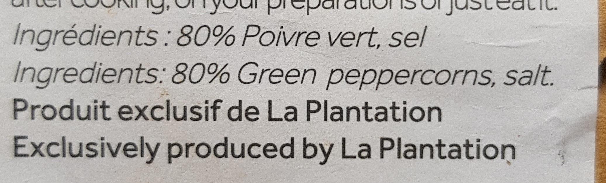 poivre de Kampot - Ingrediënten - fr