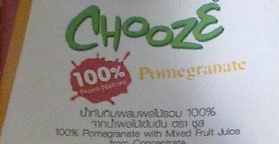น้ำทับทิมผสมน้ำผลไม้รวม 100% - Produit - th