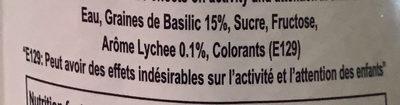 Boisson Aux Graines De Basilic - Ingredienti - fr