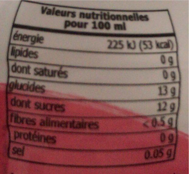 Boisson Aux Graines De Basilic - Valori nutrizionali - fr