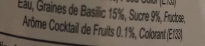 Boisson aux graines de basilic Cocktail de fruits - Ingrédients - fr