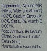 นมอัลมอนด์ - Ingrediënten - th