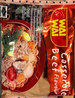 Instant Noodles Casserole Beef Flavour - Nutrition facts - en