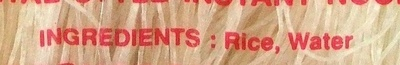 Nouilles Instantanées - Inhaltsstoffe