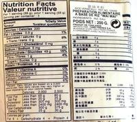 Nouilles Instantanées - Nutrition facts