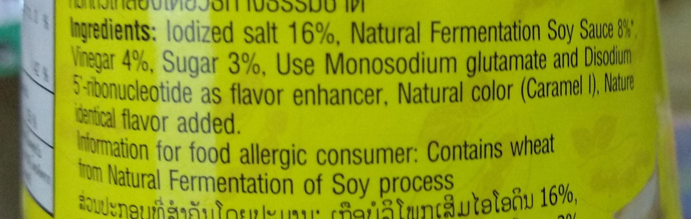แม็กกี้ซอสปรุงอาหาร - Ingrediënten