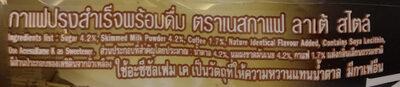 เนสกาแฟ ลาเต้ - Ingredients