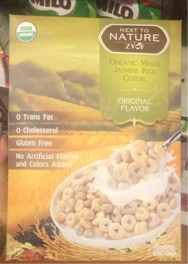 Organic Mixed Jasmine Rice Cereal - Produit - fr