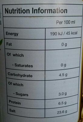Sauce Soja au Champignon 700ML - Nutrition facts - en