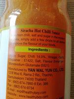 Chilli Sauce - Ingredients - en