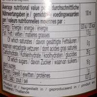 Black Pepper Stir Fried - Voedingswaarden