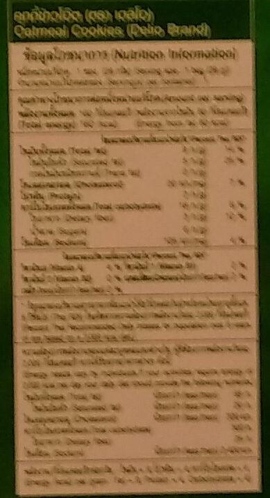 คุกกี้ เดลิโอ ตรา เอส แอนด์ พี - Nutrition facts