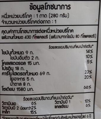 ข้าวผัดไรซ์เบอรี่ไก่และธัญพืช - Voedingswaarden